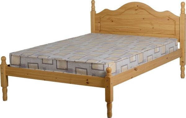 Sol Double Bed Frame  Antique Pine