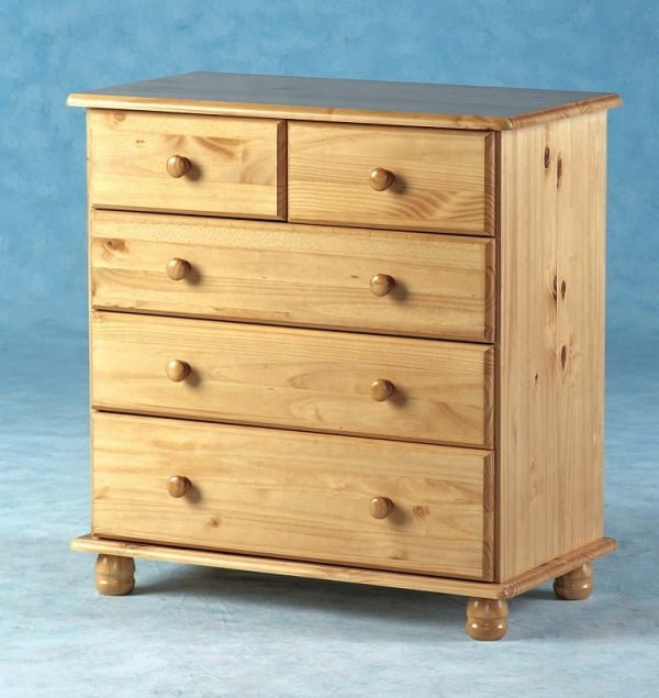 Sol Solid Antique Pine 3+2 Drawer Chest